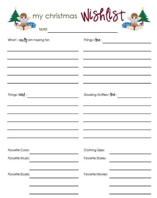 9 Free Sample Holiday Wish List Templates Printable Samples – Sample Christmas Wish List