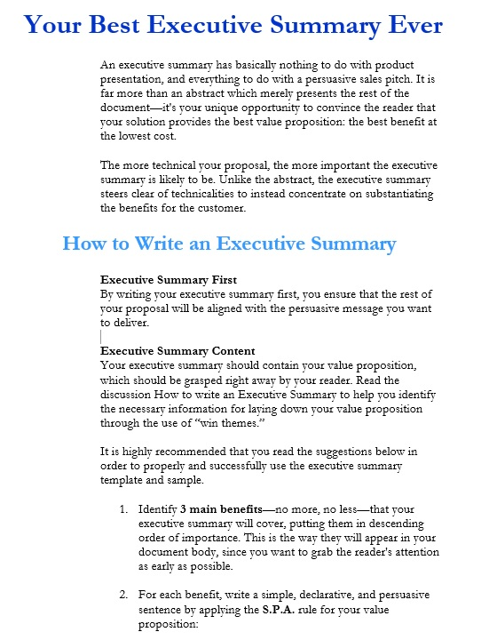 5 Free Sample Executive Summary Template for Customer Support – Executive Brief Sample