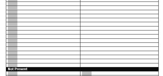 Issue Log Format Printable Samples – Sample Meeting Sign in Sheet