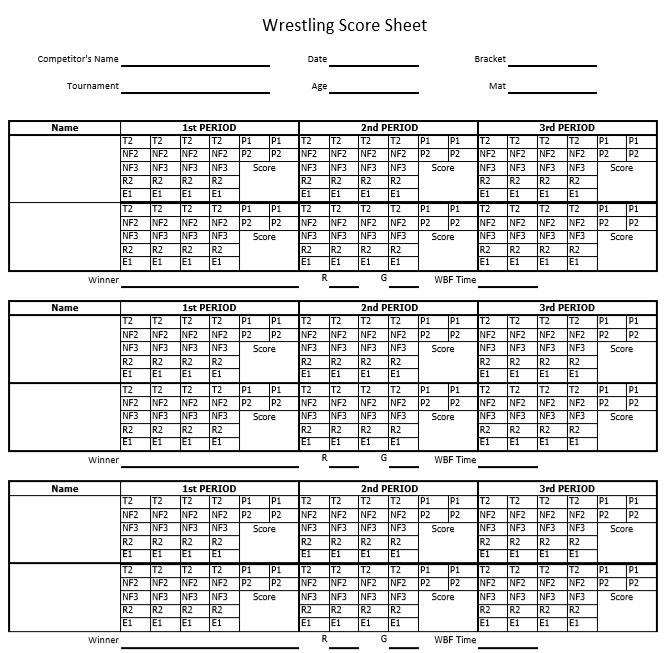 wrestling dual meet score sheet pdf