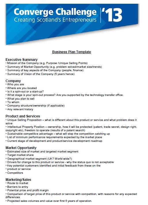 Business Plan Executive Summary Company Template Pdf 10 Printable Samples