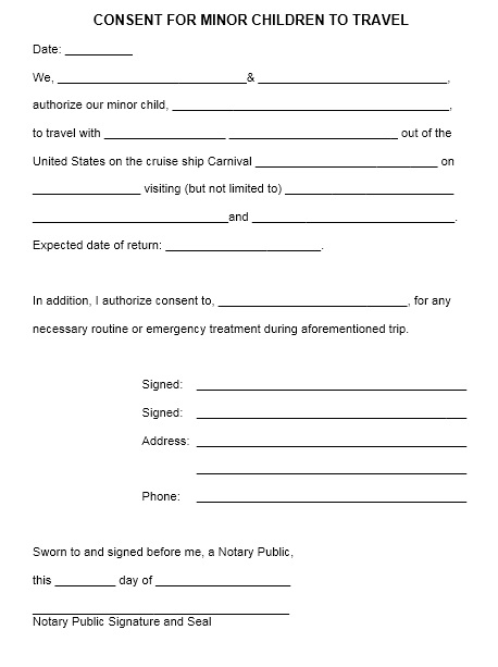 Parent Authorization Letter For Minors from www.printablesample.com