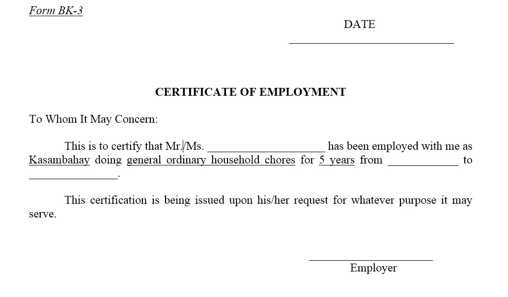 Proof Of Employment Letter Template Word from www.printablesample.com