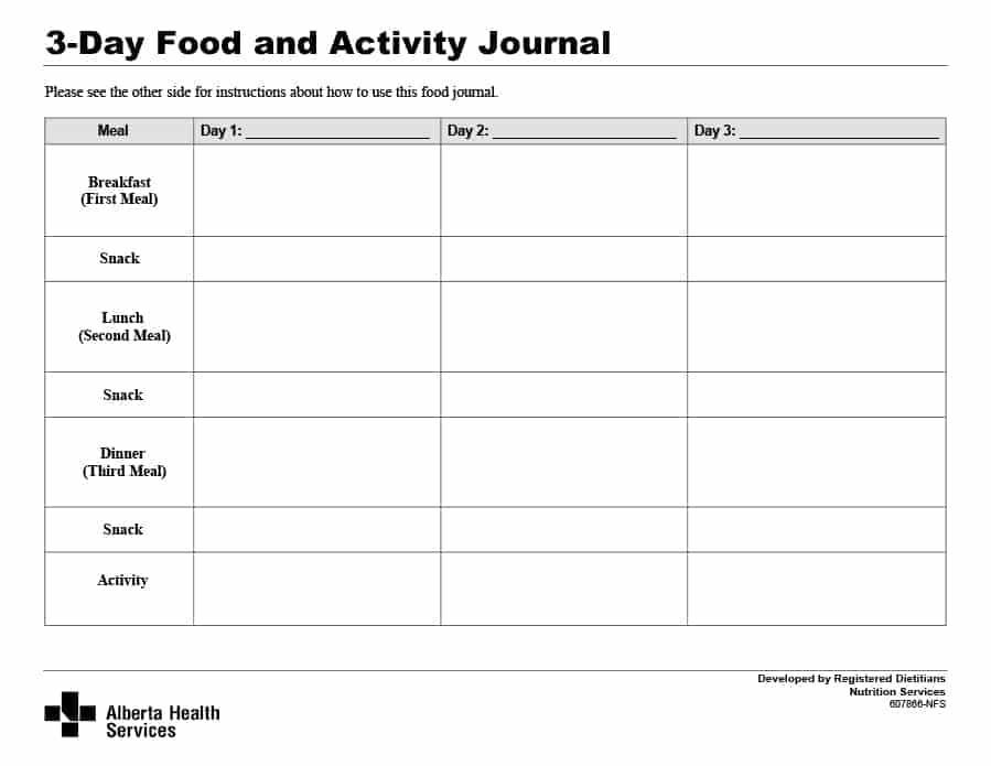 food journal template 15
