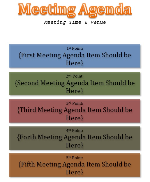 10 free sample informal agenda templates for your casual