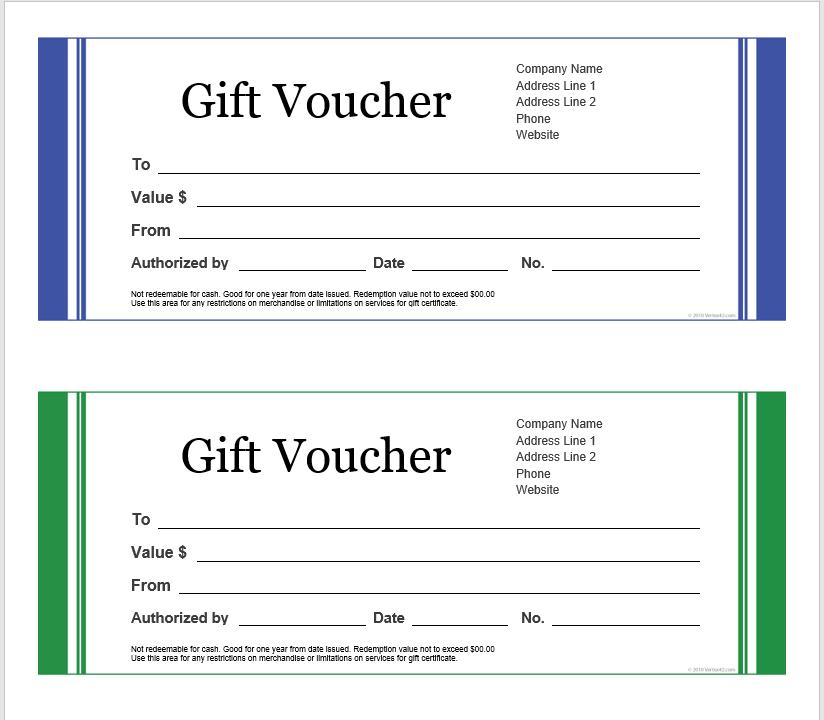 Gift Voucher Template 16