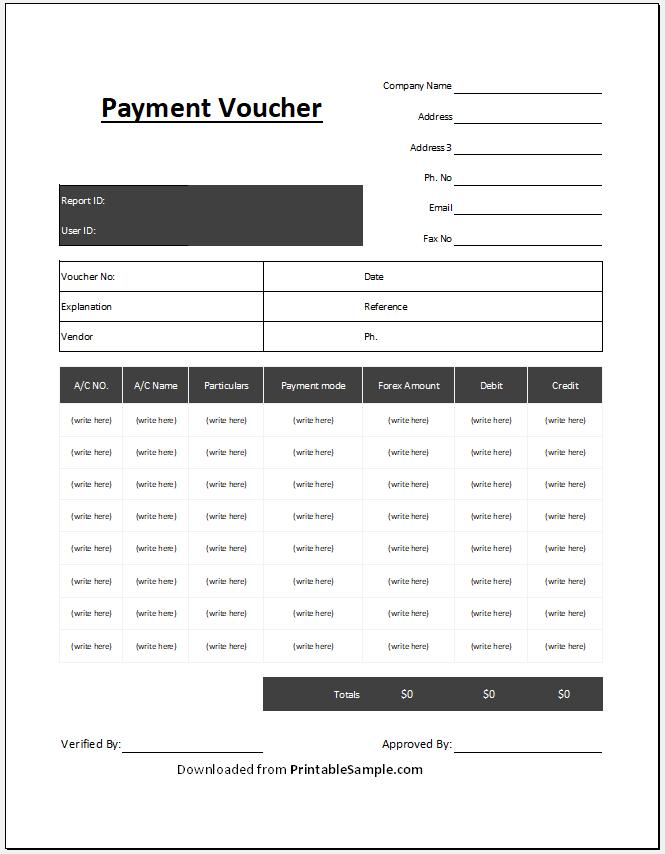 Payment Voucher Template 16