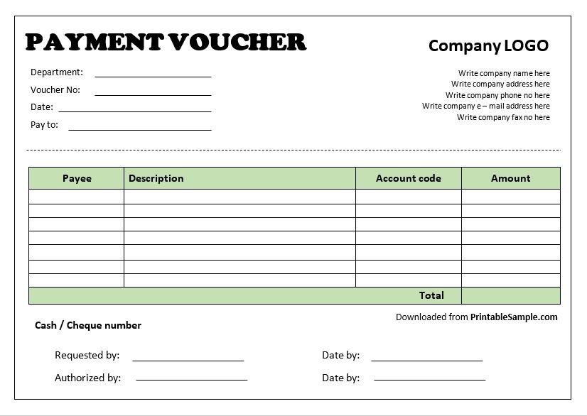Payment Voucher Template 18