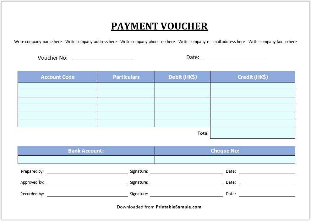 Payment Voucher Template 19