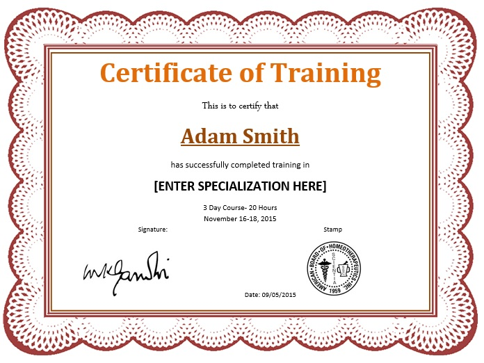 10+ Training Certificate Templates   Free Printable Word ...