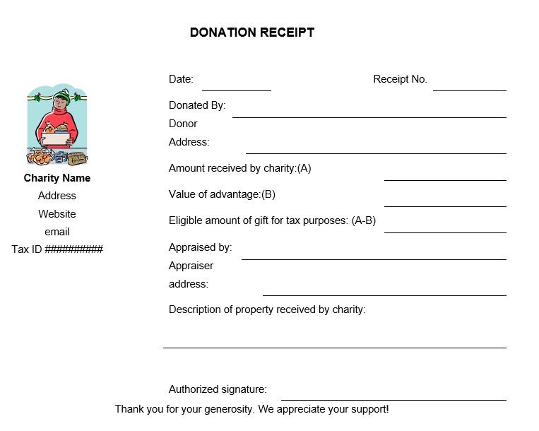 12 Free Sample Donation Contribution Receipt Templates Printable Samples
