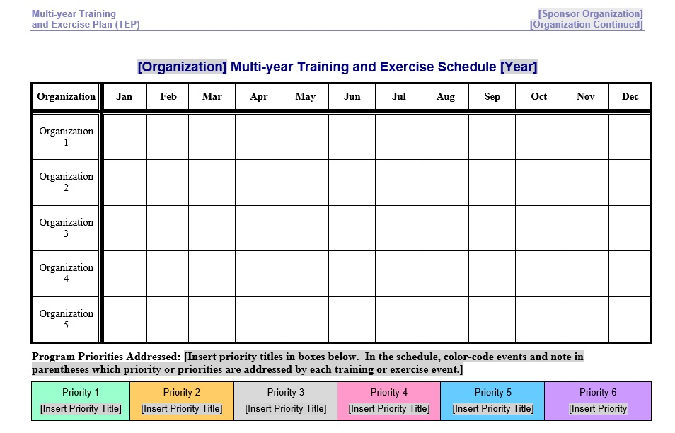 8 Free Sample Exercise Schedule Templates Printable Samples