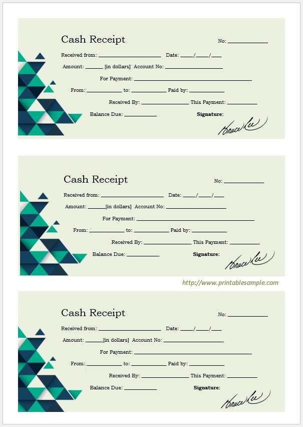 cash receipt template 12