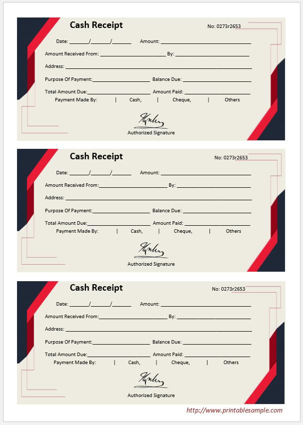 cash receipt template 13