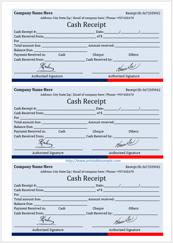 cash receipt template 14