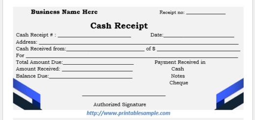 cash receipt template 15