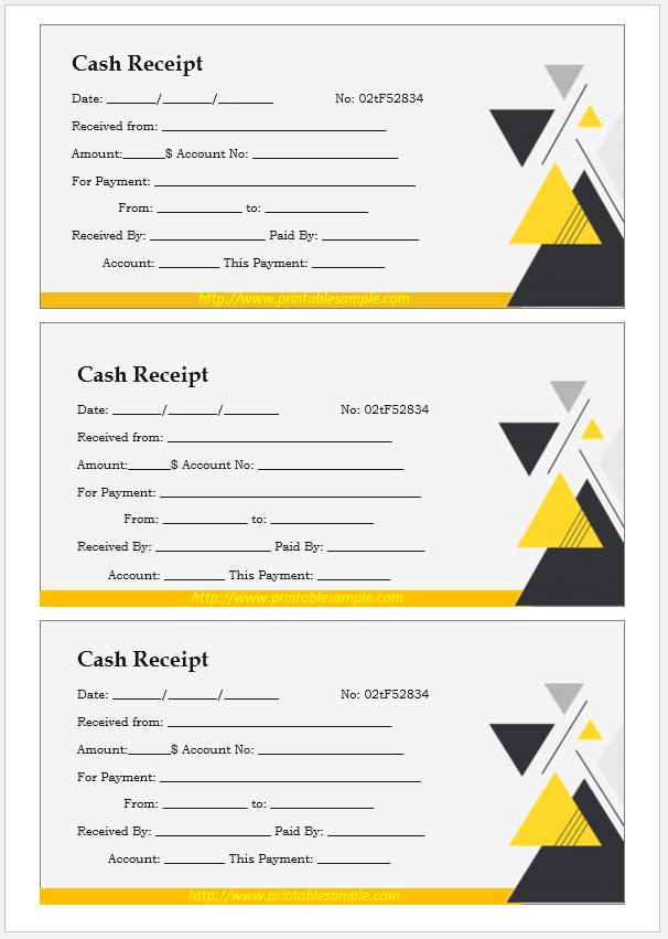 cash receipt template 17