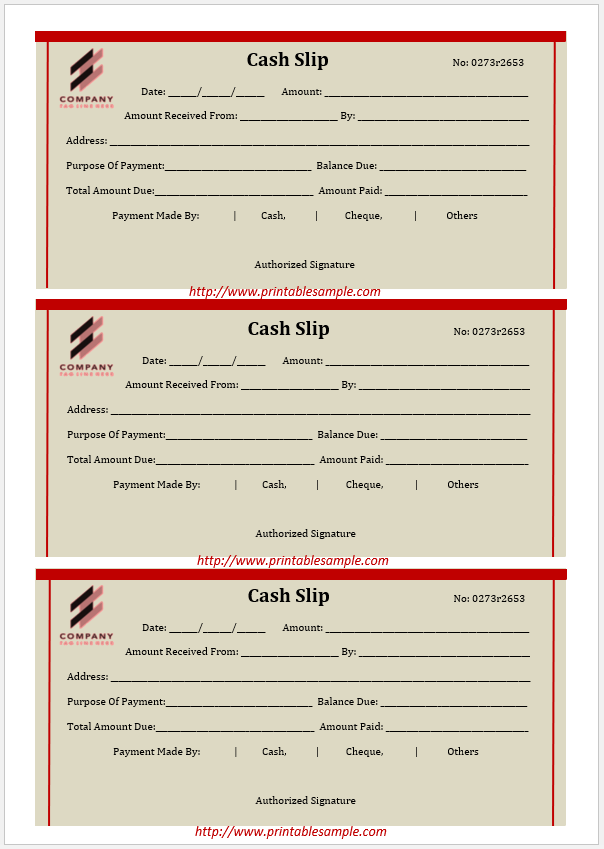cash receipt template 18