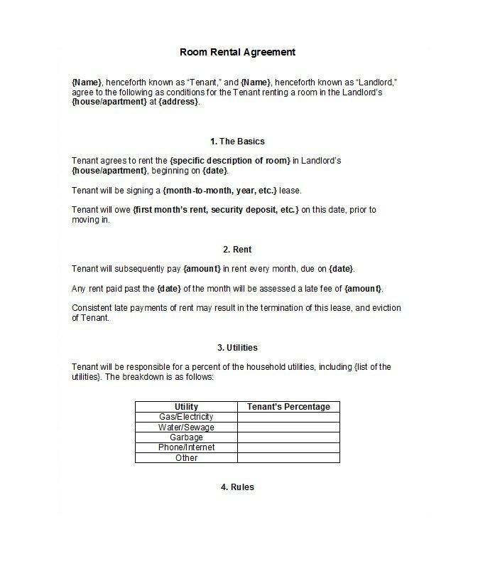 Rental Application Template 11
