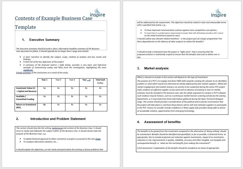 Business Case Template 03