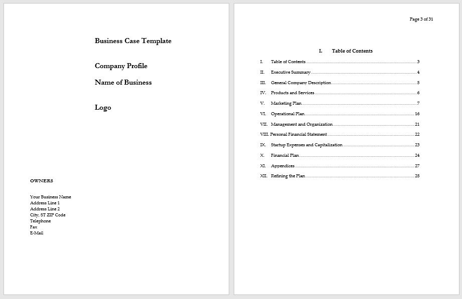 Business Case Template 14