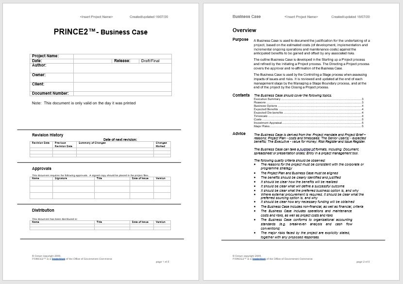 Business Case Template 22