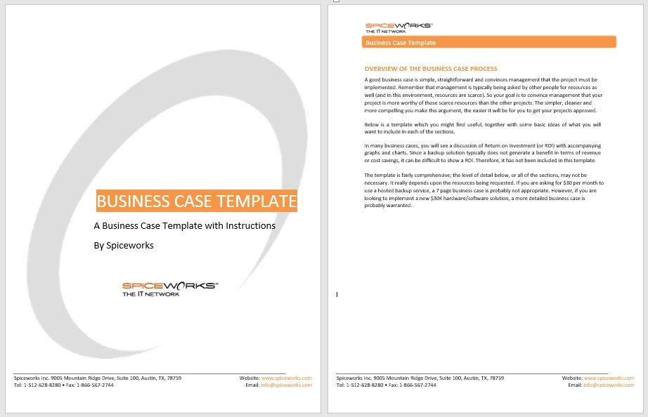 Business Case Template 23