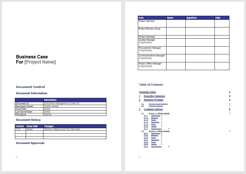 Business Case Template 24