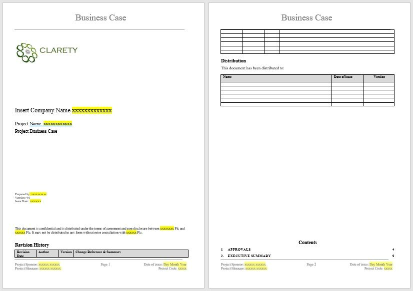 Business Case Template 30