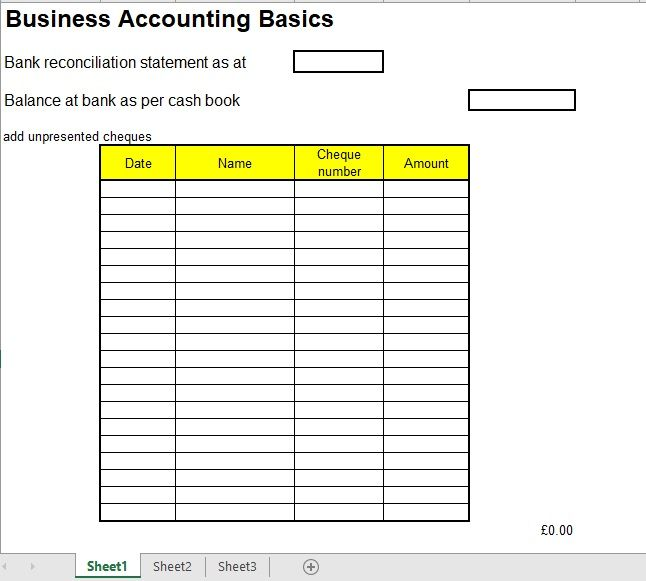 Bank Reconciliation Template 13