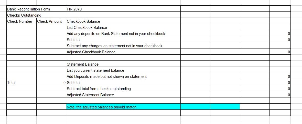 Bank Reconciliation Template 16