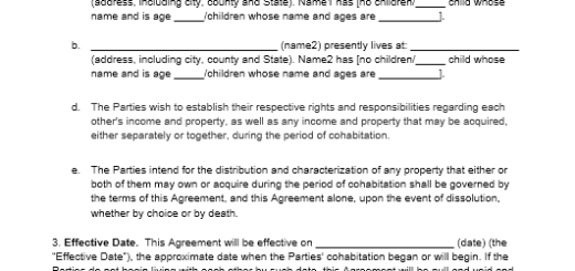 cohabitation agreement template 04