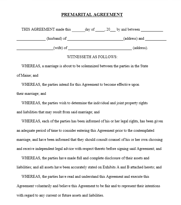 cohabitation agreement template 05