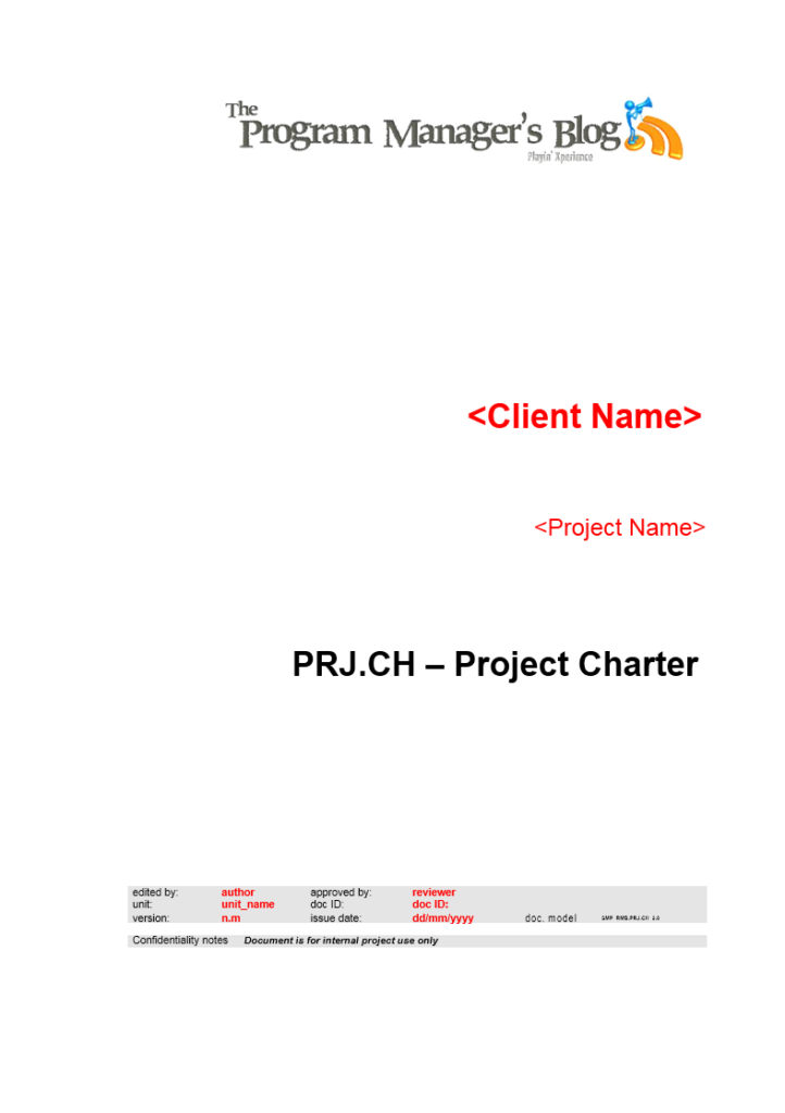 Project Charter Template 03