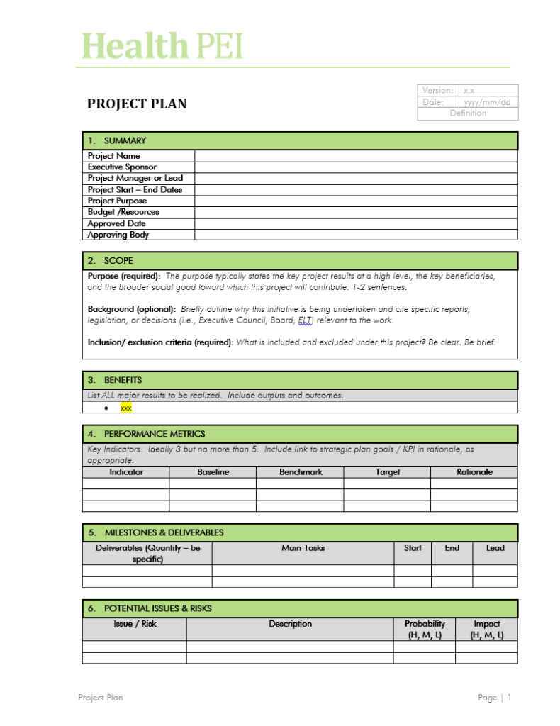 Project Charter Template 10