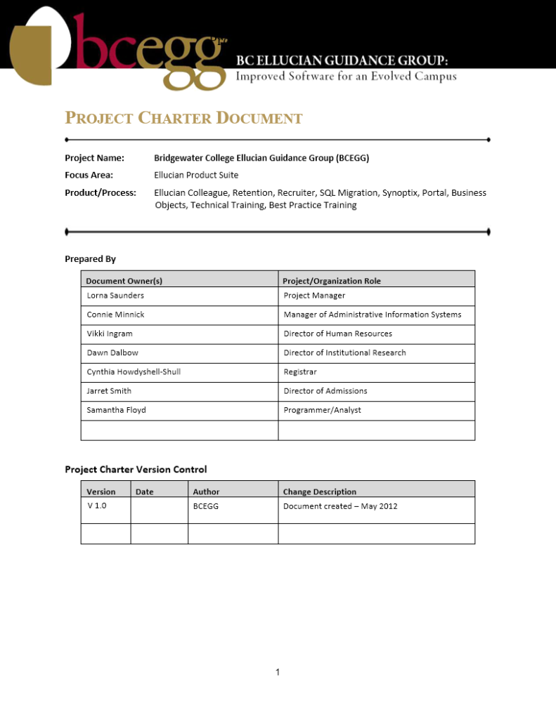 Project Charter Template 16