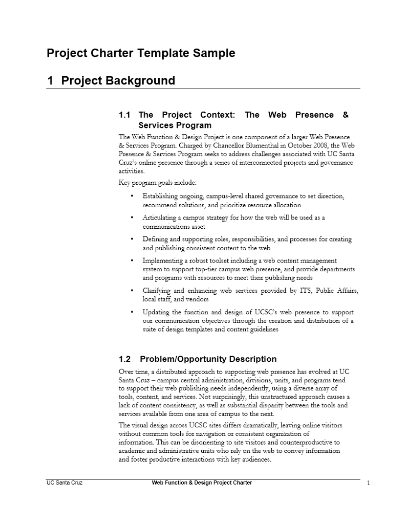 Project Charter Template 23