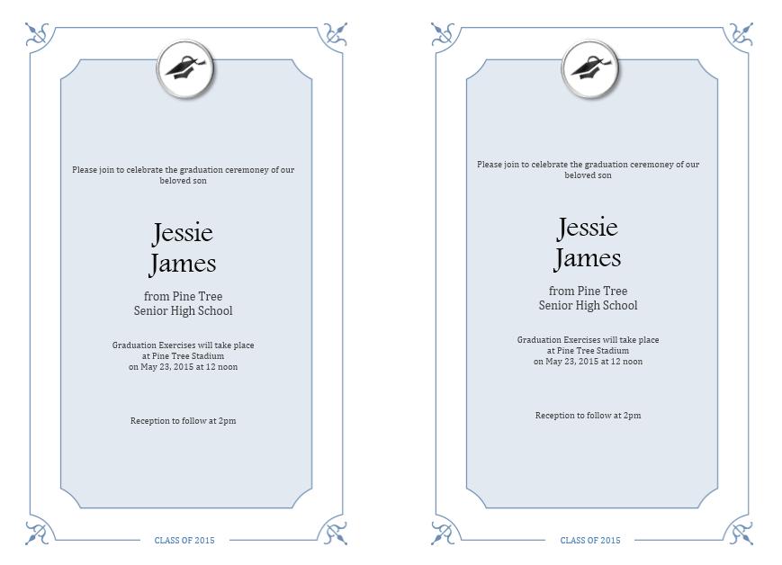 graduation invitation templates 03