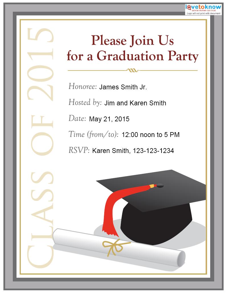 graduation invitation templates 14