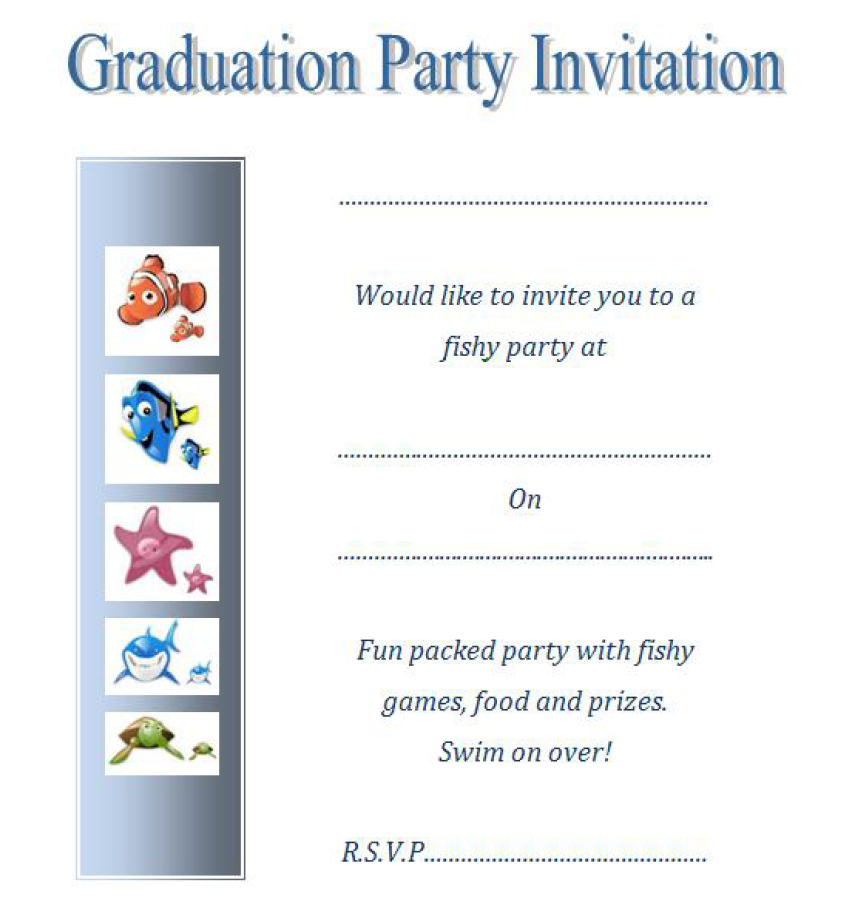 graduation invitation templates 21