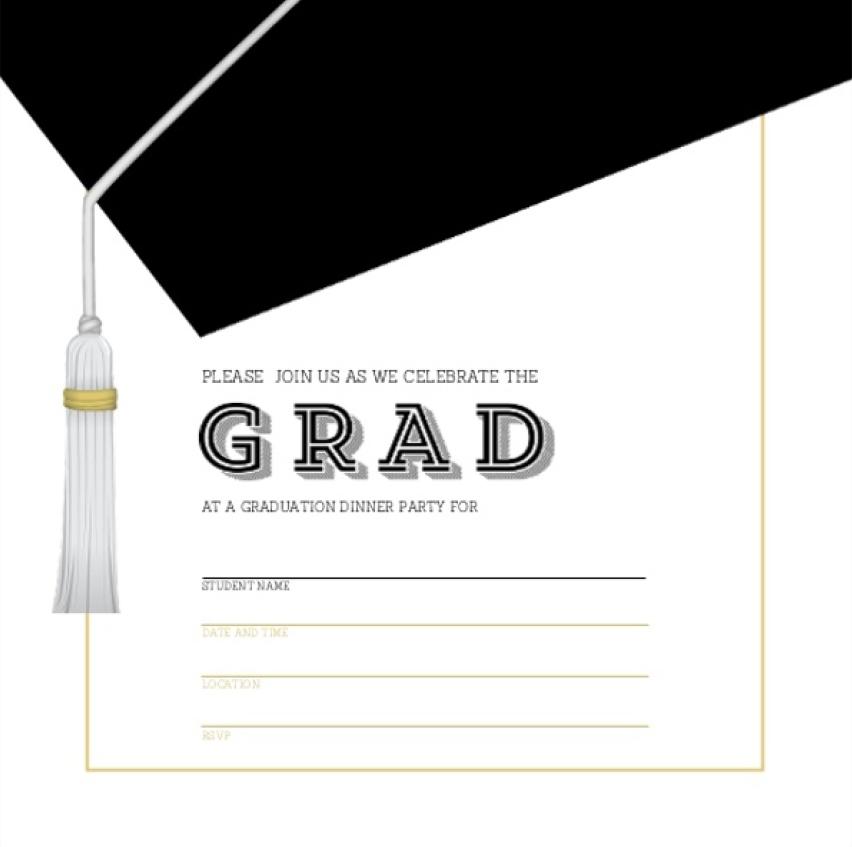 graduation invitation templates 22