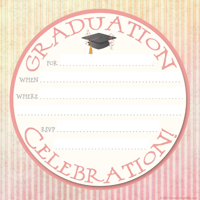 graduation invitation templates 25