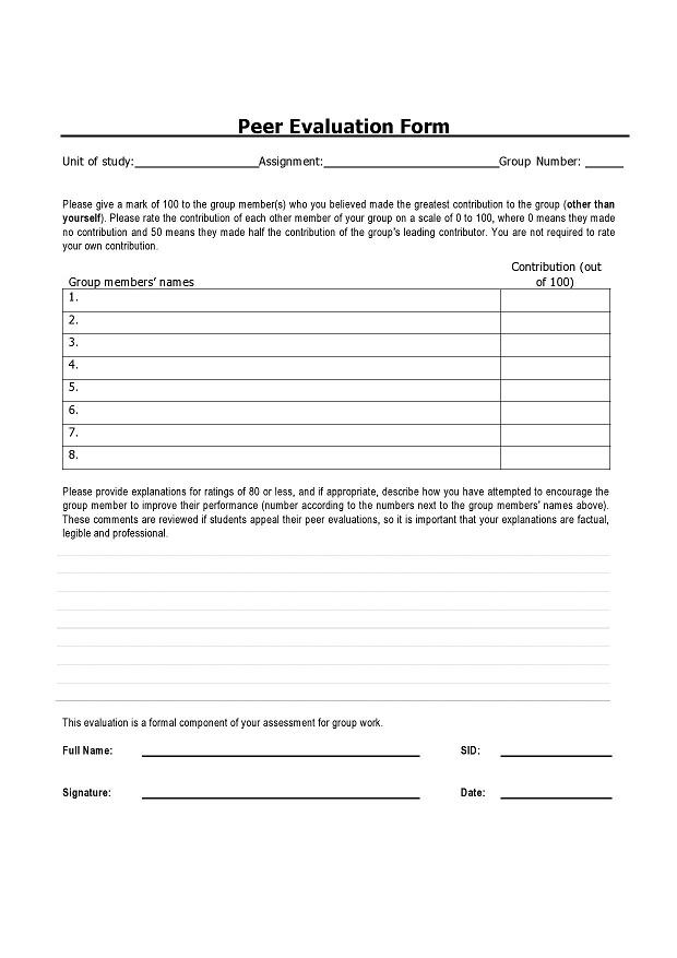peer evaluation form 007