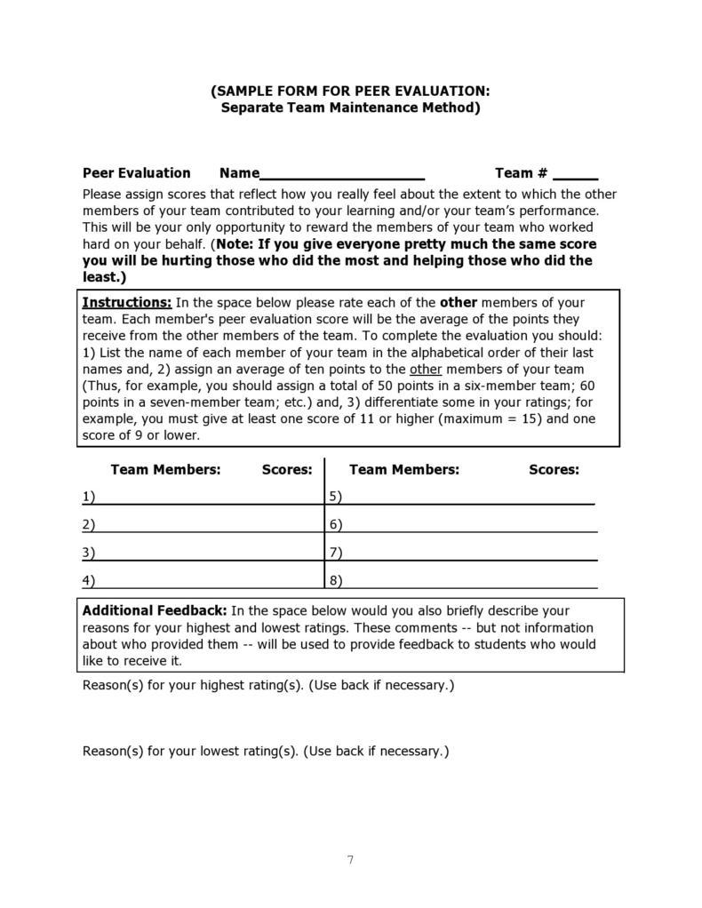 peer evaluation form 009