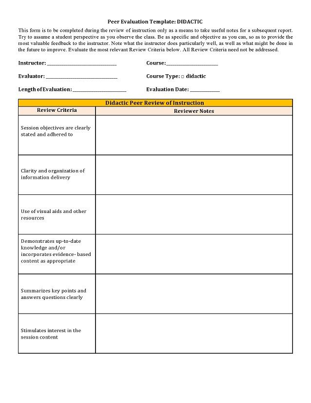 peer evaluation form 010