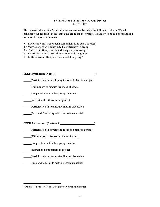 peer evaluation form 018
