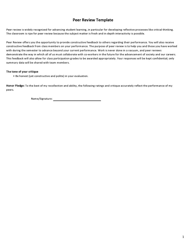peer evaluation form 030