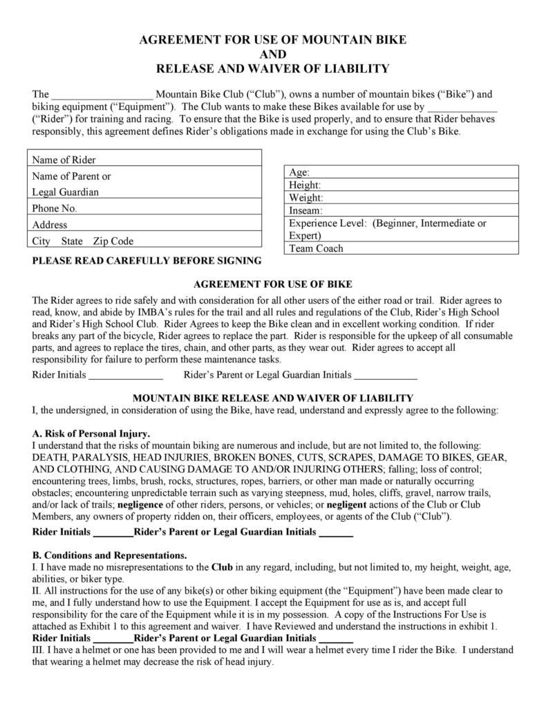 release of liability form 001