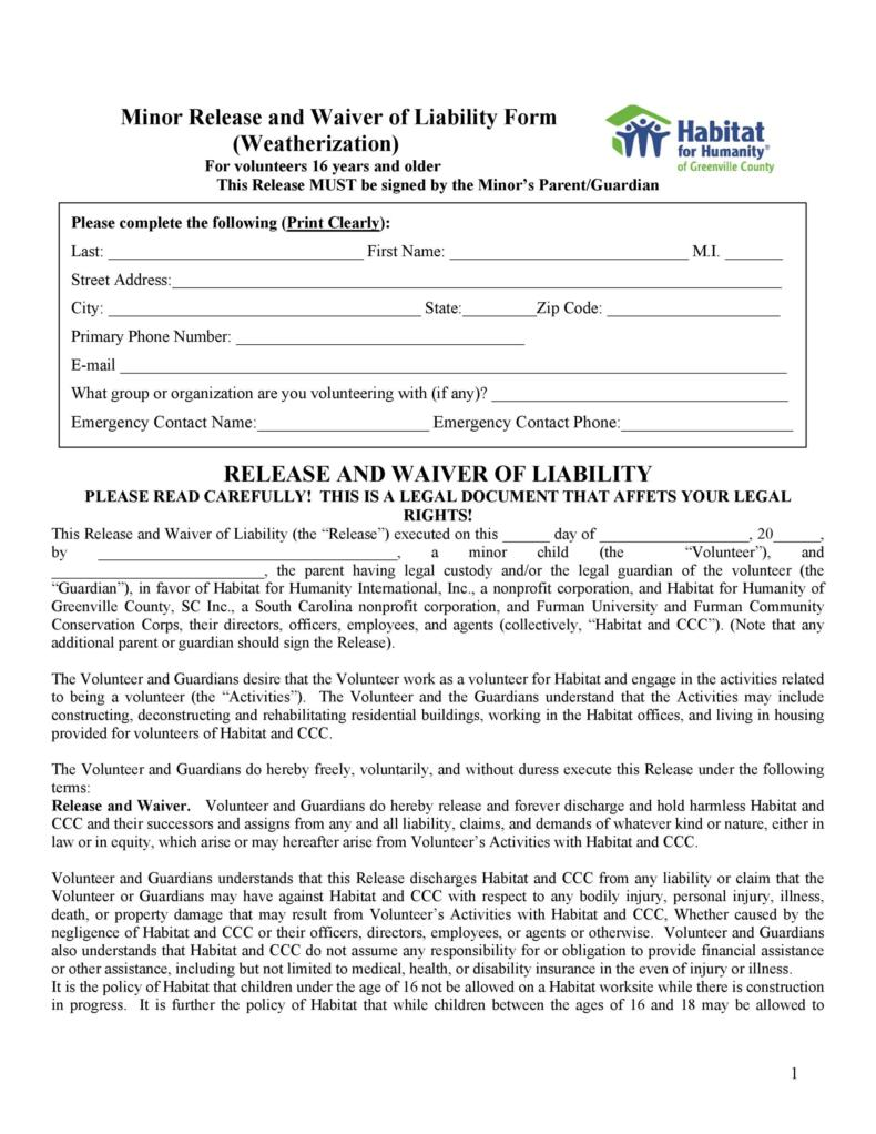 release of liability form 004