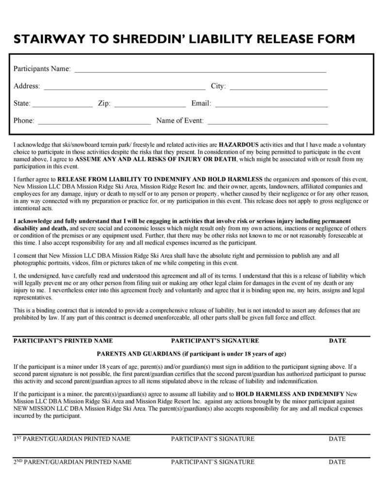 release of liability form 008